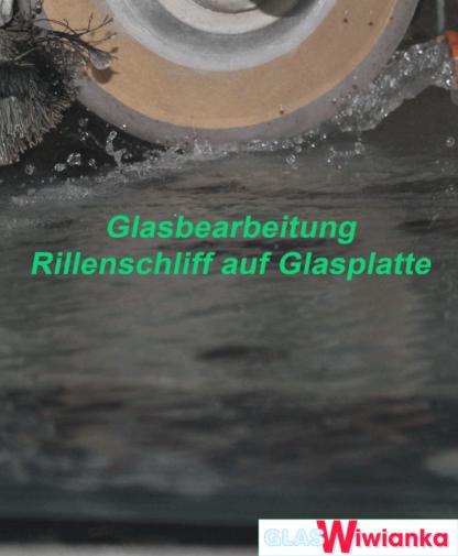 Glas Rillenschliff Detail