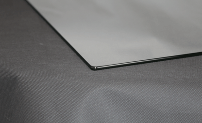 Glasplatte mit Rundecke poliert