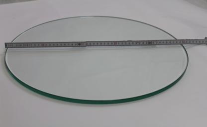 Glasplatte Rund 5mm mit Maß