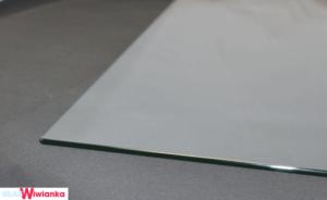 Glastischplatte mit Rundecke