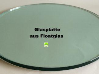 Glasplatte Rund Draufsicht