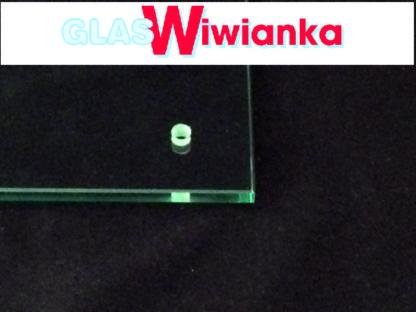 Glasbohrung in Glasplatte 8mm Glas Wiwianka Glaserei Marienfeld