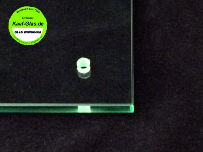 Glasbohrung in Flachglas Glas Wiwianka Glaserei Marienfeld