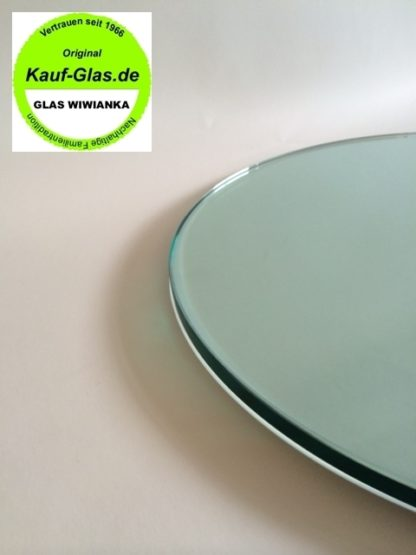 Glasplatte Rund 90cm klar