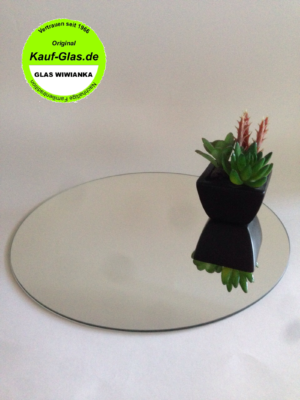 Spiegelglas-Glasplatte Rund