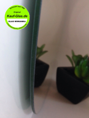 Spiegelglas-Glasplatte Rund Detail