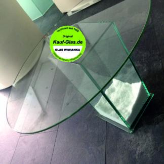 Glasplatte Oval Glas Wiwianka Glaserei Marienfeld