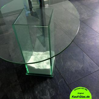Ovale Glasplatte Glas Wiwianka Marienfeld