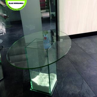 2-Glasplatte Oval Glas Wiwianka Glaserei Marienfeld