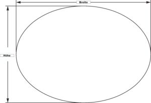 Ovale Glasplatte