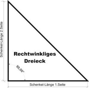 Modell-Dreieck-90°-Grad