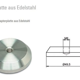 Tischbein-Adapter-UV-Verklebung-50mm