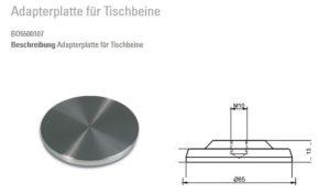 Tischbein-Adapter-UV-Verklebung-65mm