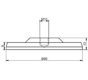 Tischbein-Adapter-UV-Verklebung-65mm-Detail-2