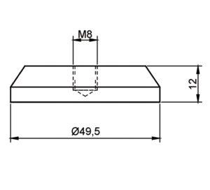 Tischbeinadapter-49-5mm-Detail