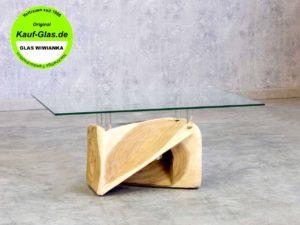 Glasplatte 8mm auf Holzfuß